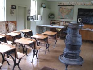 interior of schoolhouse